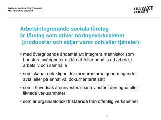 Statistik om arbetsintegrerande  sociala företag i Sverige