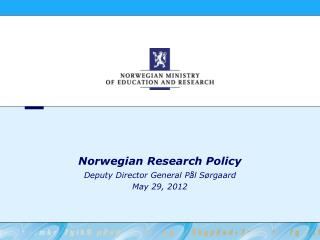 Norwegian Research Policy