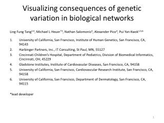 Visualizing consequences of genetic variation in biological networks