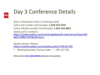Day  3  Conference Details