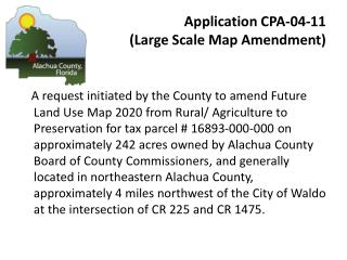 Application CPA-04-11  (Large Scale Map Amendment)