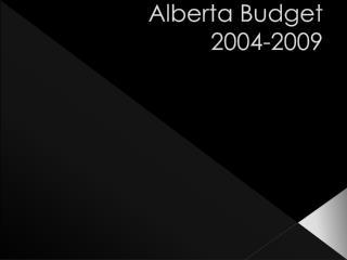 Alberta Budget 2004-2009