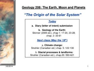 GEOL 208 Lecture 2