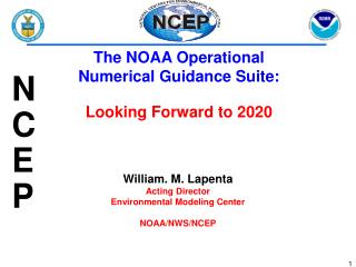 William. M.  Lapenta Acting Director Environmental Modeling Center NOAA/NWS/NCEP