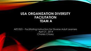 USA Organization Diversity Facilitation Team A