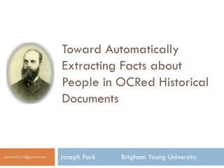 Joseph Park        Brigham Young University