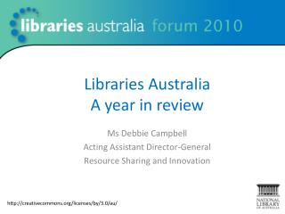 Libraries Australia  A year in  review