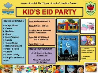 Alnoor  School & The Islamic School of Hamilton Present