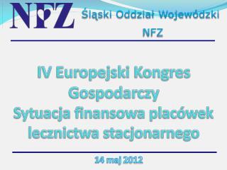 IV Europejski Kongres Gospodarczy Sytuacja finansowa placówek lecznictwa stacjonarnego