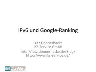 IPv6 und Google-Ranking