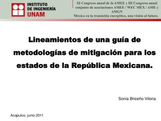 Lineamientos de una guía de metodologías de mitigación para los estados de la República Mexicana.