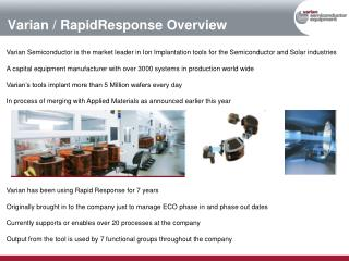 Varian / RapidResponse Overview