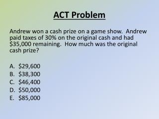 ACT Problem