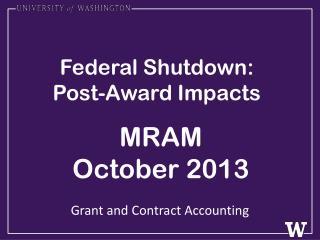 Federal Shutdown: Post-Award Impacts