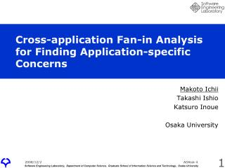 Cross-application Fan-in Analysis  for Finding Application-specific Concerns