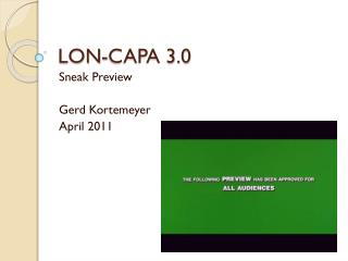 LON-CAPA 3.0