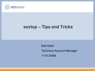 esxtop � Tips and Tricks