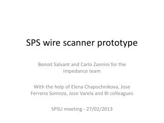 SPS wire scanner prototype