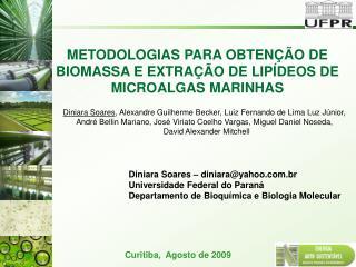 METODOLOGIAS PARA OBTEN  O DE BIOMASSA E EXTRA  O DE LIP DEOS DE MICROALGAS MARINHAS