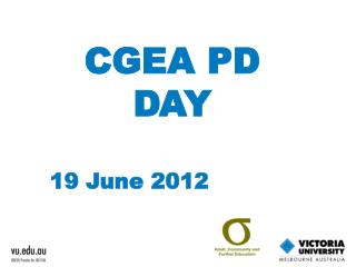 CGEA PD DAY 19 June  2012