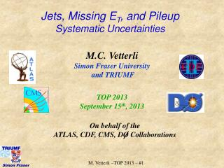 Jets, Missing E T , and Pileup Systematic Uncertainties
