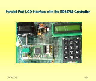 Parallel Port LCD Interface with the HD44780 Controller