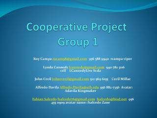 Cooperative Project  Group 1