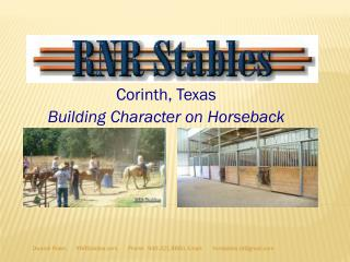 Corinth, Texas Building Character on Horseback