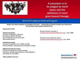 BACI ITS Employee Referral Program