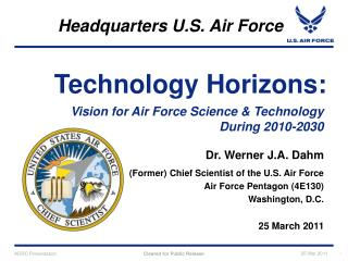 Vision for Air Force Science  Technology During 2010-2030