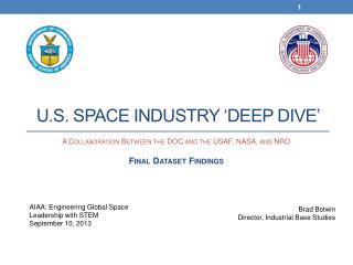 U.S. Space Industry �Deep Dive�