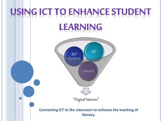Connecting ICT to the classroom to enhance the teaching of literacy.