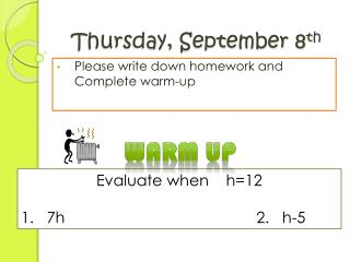 Thursday, September 8 th