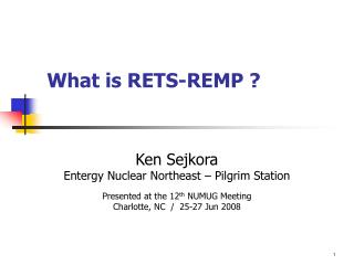 What is RETS-REMP