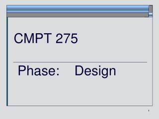 CMPT 275  Phase:    Design