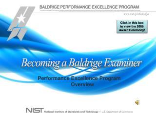 Becoming a Baldrige Examiner