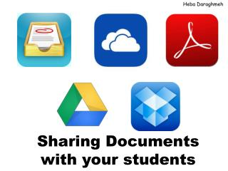 Sharing Documents with your students