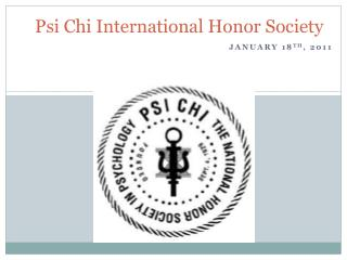 Psi Chi International Honor Society