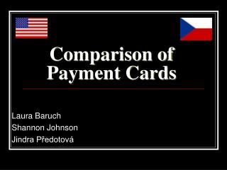 Comparison of Payment Cards