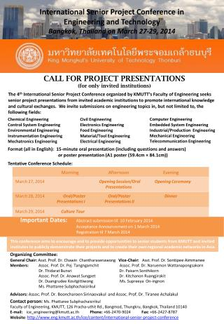 International Senior Project Conference in Engineering and Technology