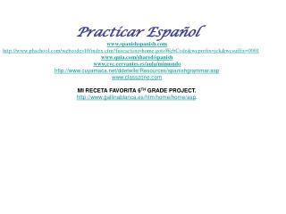 Practicar Espa ñol spanishspanish