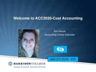 Welcome to ACC2020-Cost Accounting