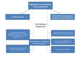 Председатель городского Совета депутатов