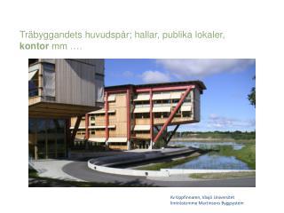 Kv Uppfinnaren, Växjö Universitet limträstomme Martinsons Byggsystem