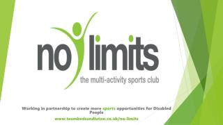 Working in partnership to create more  sports  opportunities for Disabled People