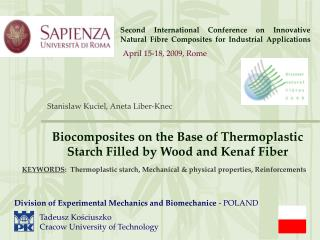 Second International Conference on Innovative Natural Fibre Composites for Industrial Applications