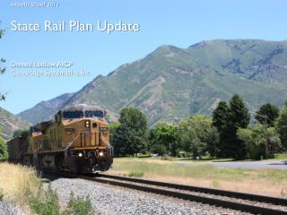 State Rail Plan Update