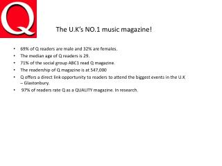 The U.K�s NO.1 music magazine!