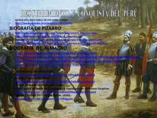 DESCUBRIMIENTO  Y  CONQUISTA  DEL  PERÚ
