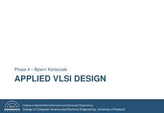 Applied VLSI Design
